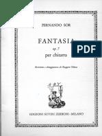 Sor Fantasia Op 7 Per Chitarra Rev Chiesa
