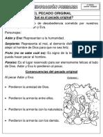 Ficha Fr - El Pecado - El Credo - 5to y 6to - 2017