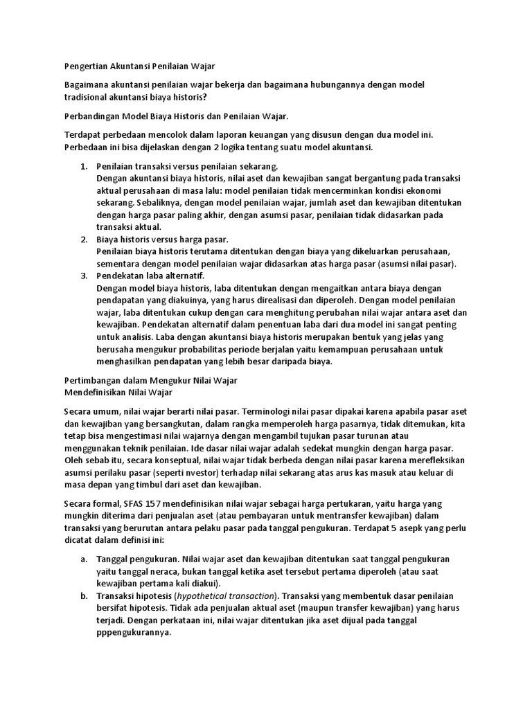 PSAK 68: Pengukuran Nilai Wajar