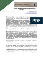 Venturinicc2015 Editoriales Literarias Recientes y Catálogos