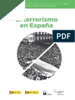 Temario de la nueva asignatura de terrorismo para alumnos de 4º de la ESO.