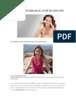 10 Tips Para Eliminar El Acné en Adultos22665649822011