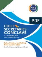 Chief Secretary Conclave 2017