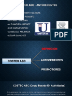 Costeo ABC-Antecedentes Expo
