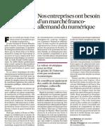 Nos entreprises ont besoin d'un marché franco-allemand du numérique