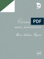 Cioran Dans Mes Souvenirs - Rigoni, Mario Andrea