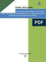 1º Informe La Union - Descolmatacion en Tramos Criticos en Canal Santos Torres-corregido