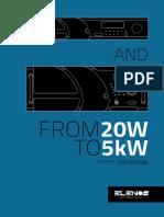 5 Low Medium Power Digital Transmitters From 20W to 5kW