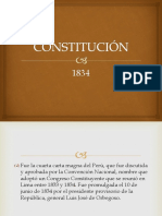 Constitucion Del Peru de 1834