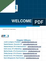 PMI Chapter Presentations September 2017