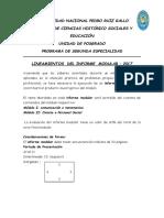 Lineamientos Informe Modular I -2017UNPRG