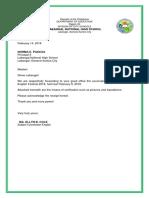 Accomplishment Report 2018