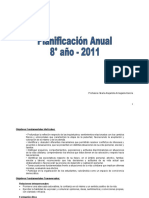 Distribución Anual Artes Visuales 3º 2013