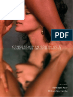Censorship in South Asia Cultural Regulation From Sedition to Seduction