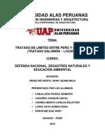Tratado de Limites Entre Peru y Colombia
