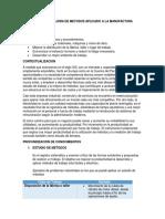 Estudio de Mejora de Metodos Aplicado a La Manufactura