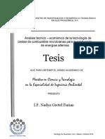 Análisis Técnico-económico de La Tecnología de Celdas Bioelectroquímicas Microbianas Para La Producción de Energías Alternas.