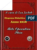 Rito Operativo Shin di Lea jackob  per I Casti 2018  Dipensa didattica n 4°
