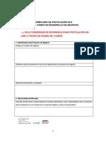 Formulario de Postulacion CRECE Provincias 2018