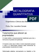 Aula -Metalografia Quantitativa
