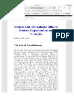 Regions adn International Affairs