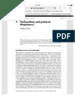 Connor Walker Nationalism and Political Legitimacy