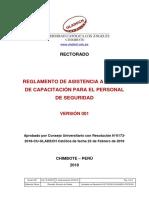 Reglamento Asistencia Cursos Capacitacion Personal Seguridad v001
