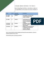 Contenidos a Evaluar Abril Ciencias e Historia 3ª y 4º Básicos