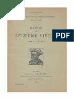 Revue du Seizième siècle - T. 5, Fasc. 3-4, 1917-1918.pdf