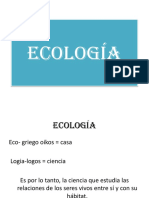 Introduccion a La Ecologia