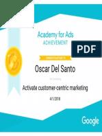Google Customer Centric Marketing Oscar Del Santo