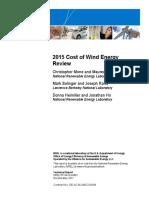 NREL, Cost of Wind Energy 2015