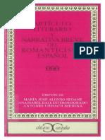 Articulo Literario y Narrativa Breve Del Romanticismo Espanol