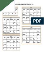 Calendario de Pruebas Semestral 2018