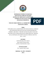Influencia de la desintegración familiar en el consumo de sustancias psicoactivas de los estudiantes de primero, segundo, y tercero de bachillerato sección matutina de la unidad educativa Simón Bolívar, ubicada en la parroquia de Puerto Bolívar , periodo lectivo 2013-2014