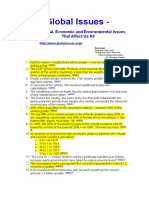 COMERCIO INTERNACIONAL - Global Issues and Othrs.- Statistics