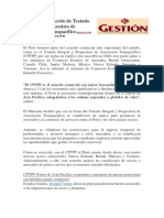 Perú Firma Acuerdo de Tratado Integral y Progresista de Asociación Transpacífico REDACCIÓN GESTIÓN