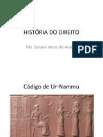 HISTÓRIA DO DIREITO