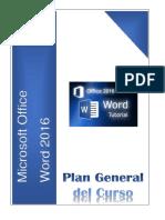 Plan General de Curso Word 2016