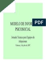 Modelo de Informe Psicosocial