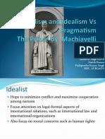Machiavelli Realism Idealism vs Pragmatism