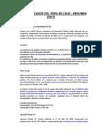 COMERCIO INTERNACIONAL  -  Principales Casos Perú en CIADI -resumen