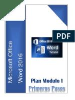 Plan Modulo I Primeros Pasos Word 2016