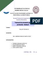 Manual de Procesos Para Productos Lacteos Taller 2