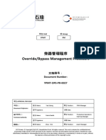 YPMT OPS PR 0027_旁路管理程序 OverrideBypass Management Procedure