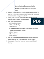 guided reading professional development outline
