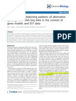 SpliceGrapher- Detecting Patterns of Alternative Splicing From RNA-Seq Data in the Context of Gene Models and EST Data