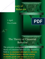 Chapter 4 Theory of Consumer Behavior