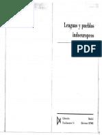 Lenguas y Pueblos Indoeuropeos Francisco Villar