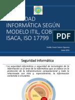 Seguridad Informática Según Modelo Itil, Cobit